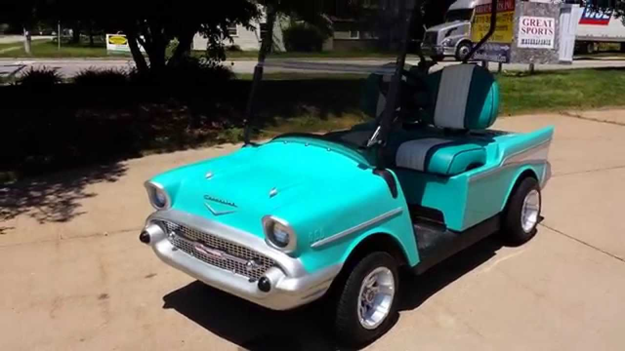 57 Custom Golf Cart For Sale From SaferWholesale.com - YouTube