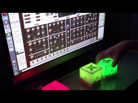 Tangible Patching of U-HE ACE with Percussa AudioCubes and MidiBridge v3