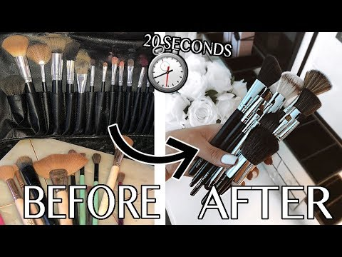 HOW I CLEAN & DRY BRUSHES IN 20 SECONDS!!! *2019*