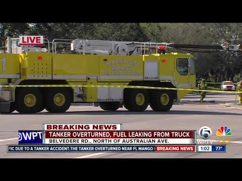 Tanker spills thousands of gallons of fuel near PBIA
