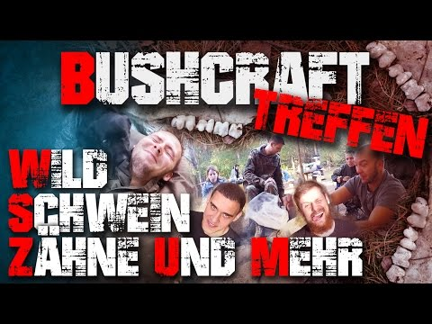 Wildschweinzähne ! Bushcraft Outdoor Survival Treffen (2/3)
