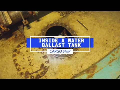 Inspecting The Inside Of A Cargo Ship's Water Ballast Tank | Life At Sea