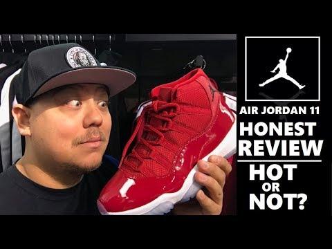 Air Jordan 11 Win Like 96 Gym Red Retro Sneaker HONEST REVIEW + Comparison  VS Midnight Navy XI