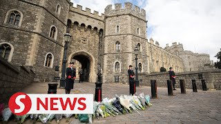 Flowers laid for Prince Philip at Queen's Northern Ireland residence