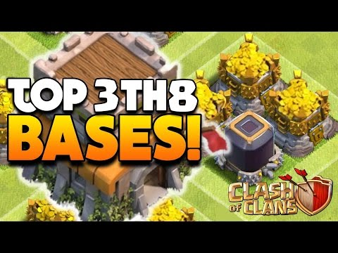 Clash Of Clans - TOP 3 TH8 FARMING BASE 2016!