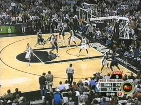2003 Western Conference Finals Game 2 SAS vs DAL Part 1