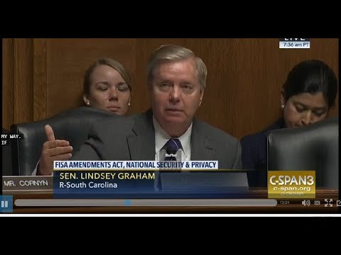 Senator Graham Enraged at Intelligence Officers if His Conversations were Monitored