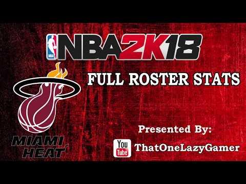 """NBA 2K18 """"Miami Heat"""" Full Roster stats"""
