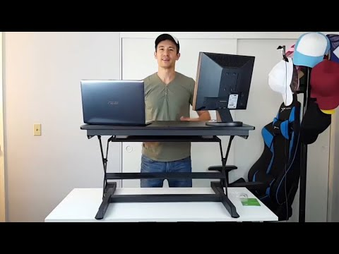 Awesome Adjustable Sit/Stand Up Desk (15 Height Adjusments)