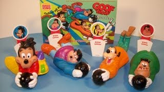 1992 DISNEY'S GOOF TROOP BOWLERS SET OF 4 BURGER KING KID'S MEAL TOY'S VIDEO REVIEW