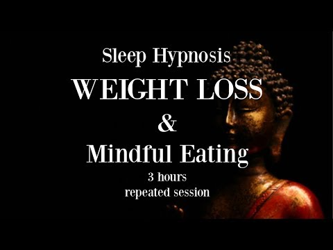 😴ॐ 3 hours repeated loop ~ Sleep hypnosis for weight loss with mindful eating ~ Female Voice