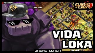 Golens VIDA LOKA no LAYOUT mais USADO - Clash of Clans - Bruno Clash