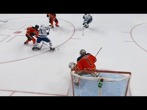 Season Highlight: Kris Russell blasts one past Brossoit to put the Leafs up late