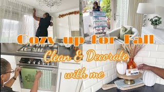 FALL CLEAN + DECORATE WITH ME 2021   Fall Kitchen Decor   Cozy Up For Fall
