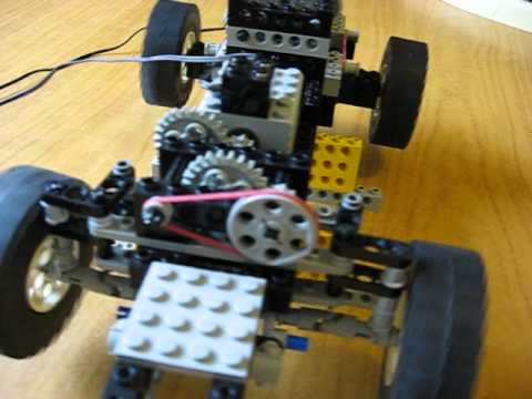 old technic lego 4 wd with steering youtube. Black Bedroom Furniture Sets. Home Design Ideas