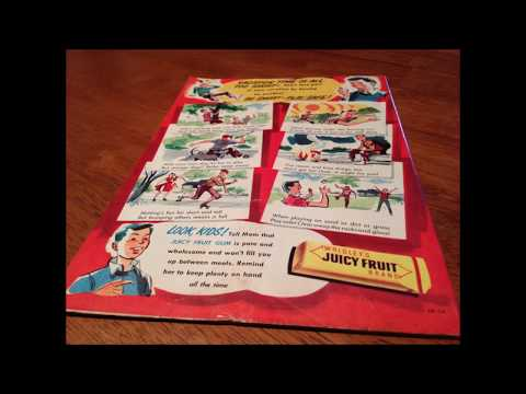 COMIC MAN PRODUCTIONS: WRIGLEY JUICY FRUIT BE SMART PLAY SAFE LITTLE LULU COMIC BOOK AD 1956