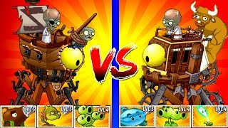 Plants vs Zombies 2 Dr. Zomboss - Pirate vs Wild West Zombot Challenge Power UP Plants PVZ 2