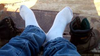 work boots and hanes sock