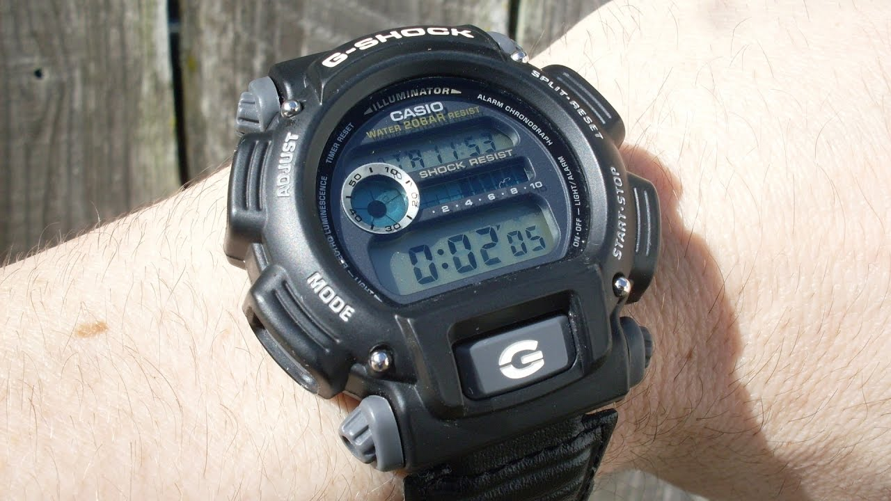2ae775eb1af Casio G-SHOCK DW-9052 how to set time and alarm - YouTube