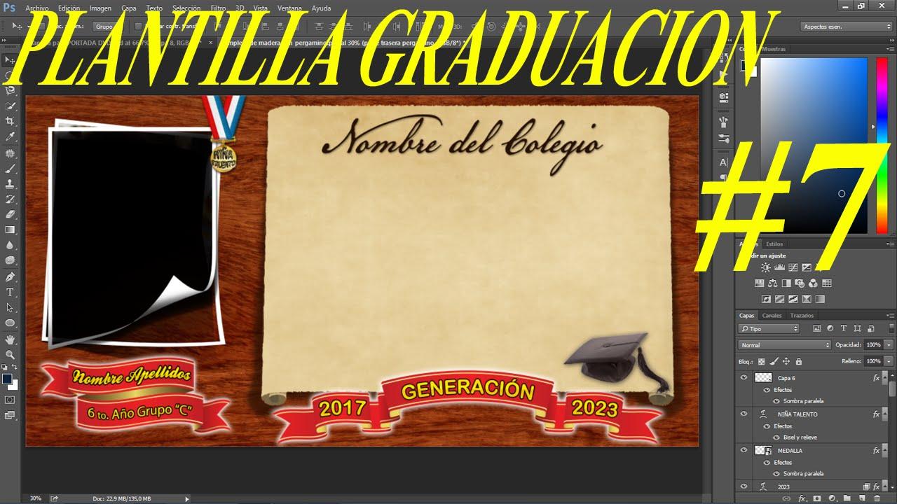 Plantilla psd Graduación pizarra moderno con medalla para fotos ...
