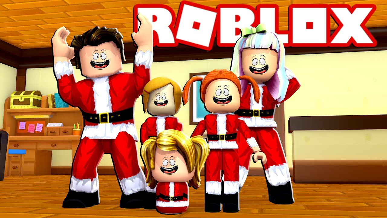 Happy Roblox Family Christmas In July Bloxburg Roleplay Youtube