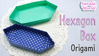 Origami - Hexagon Box (Boat shaped container)