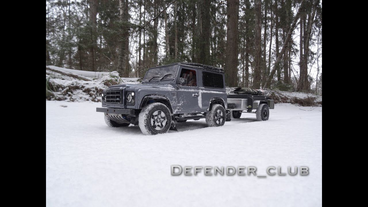 scale rc land rover defender 90 by kahn design winter. Black Bedroom Furniture Sets. Home Design Ideas