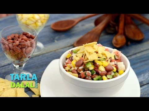 Rajma and Corn Salad Recipe, Mexican Style by Tarla Dalal