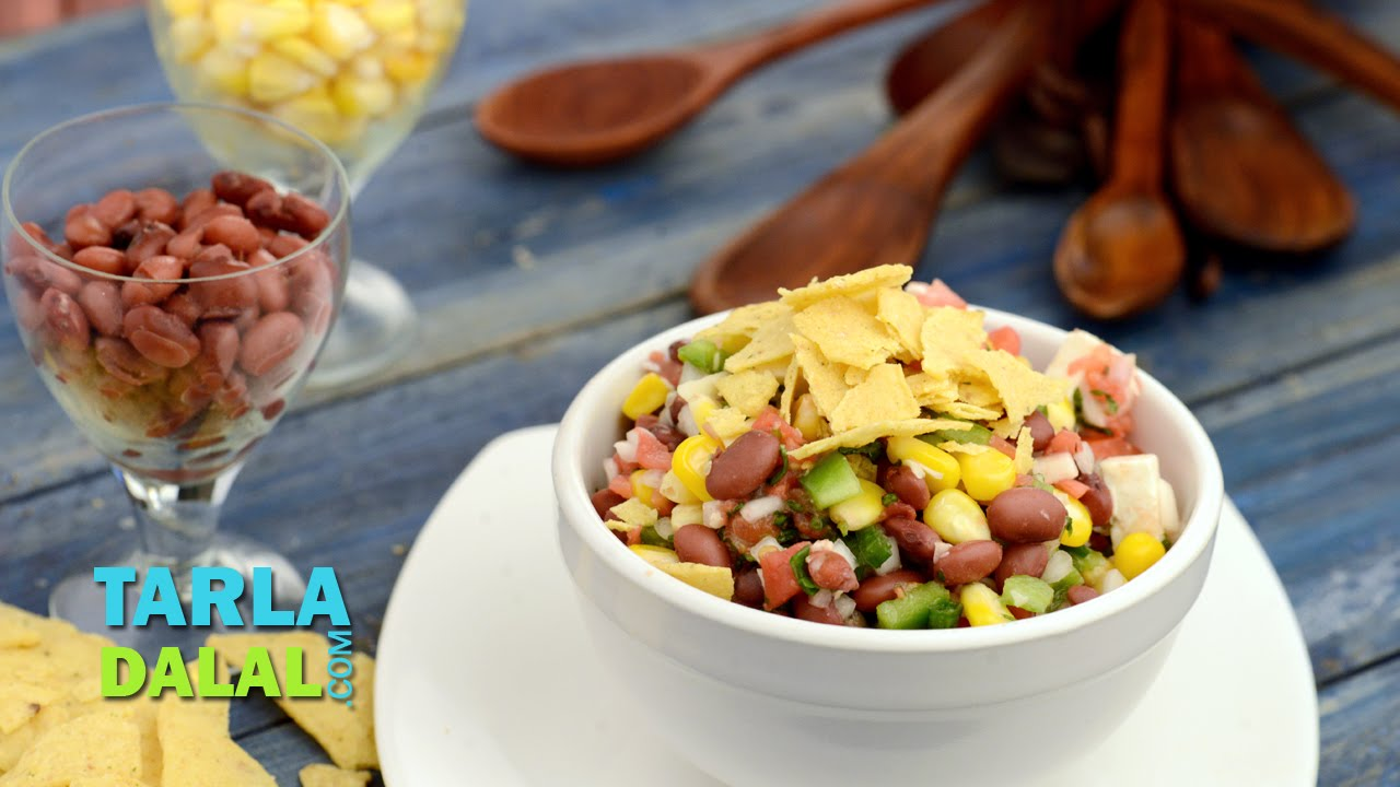 Rajma and corn salad recipe mexican style by tarla dalal youtube forumfinder Images