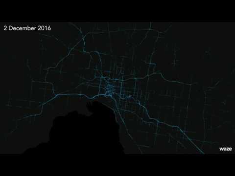 Waze Incidents in Melbourne