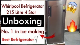 Whirlpool Refrigerator Unboxing | 215 L | 4 Star rating | Awesome Features | Price