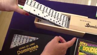 Double Six Dominoes To Be Played With Mexican Train Fun And Chicken Foot Games | Mexican Train Fun