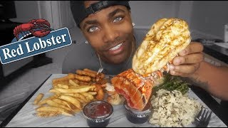 GIANT LOBSTER TAIL | RED LOBSTER MUKBANG!!!