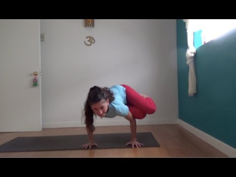 yoga side crow parsva bakasana with shana meyerson