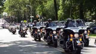 Honoring a Hero - JCPD Officer Melvin Santiago - Hundreds of Motorcycle Police