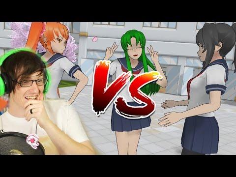 OSANA VS YANDERE CHAN RAP BATTLE!? | Epic Rap Battles of Akademi  (Reaction)
