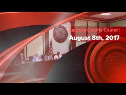 Laurens County Council, August 8th, 2017