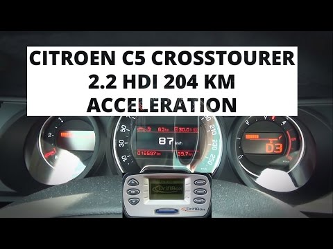 Citroen C5 Crosstourer 2.2 HDi 204 hp - acceleration 0-100 km/h