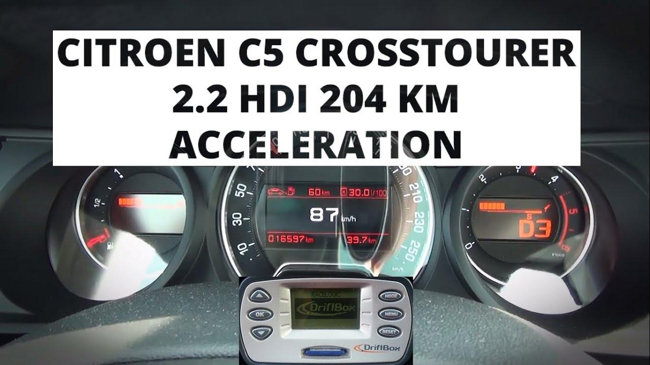 citroen c5 crosstourer 2 2 hdi 204 hp acceleration 0 100 km h youtube. Black Bedroom Furniture Sets. Home Design Ideas