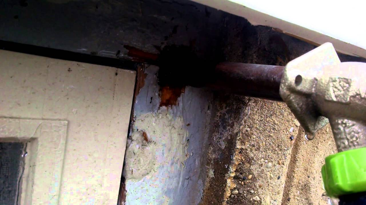 Leak inside the wall at the outside hose bib - YouTube