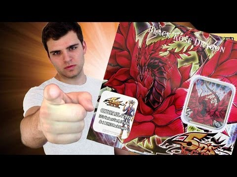 Best Yugioh 2008 Black Rose Dragon Tin Opening! OH BABY!!! ;)