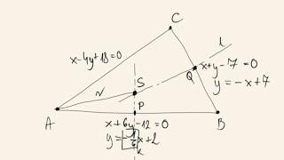 Poziom rozszerzony - wyznacz równanie okręgu opisanego na trójkącie