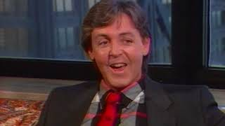 Paul McCartney Raw Interview Footage with Roy Leonard (1984)