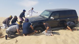 we stuck in  Qatar desert //ഖത്തർ മരുഭൂമിയിൽ കുടുങ്ങി, 😐😐