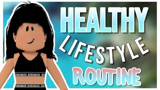 Healthy lifestyle day routine! || roblox