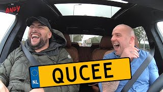 Qucee - Bij Andy in de auto! (English subtitles)
