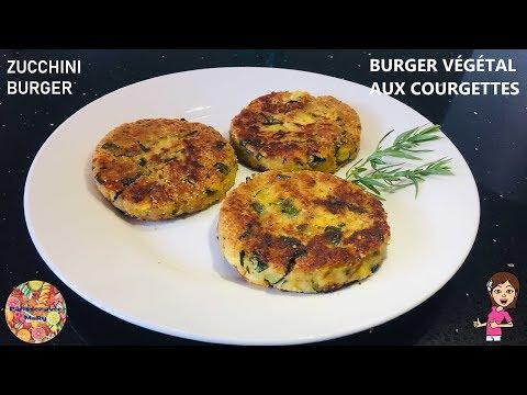 🥒-burger-vegetarien-de-courgettes-facile- -zucchini-burger- -steack-vegetarien-♡