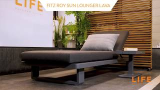 LIFE Outdoor Living - Fitz Roy sun lounger lava