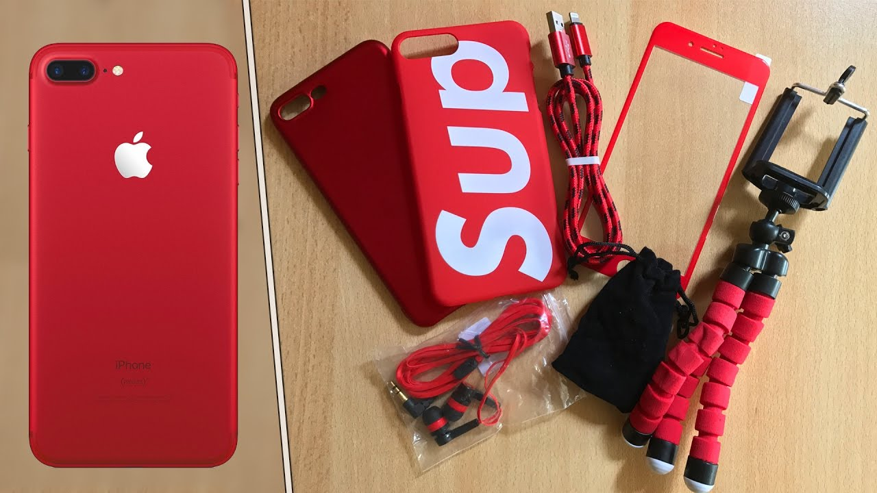 new concept d5b86 a45fa BEST Product RED iPhone 7 Accessories Under $2!