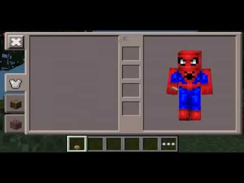 Minecraft PE Spiderman Costume Skin YouTube - Skins para minecraft pe de spiderman